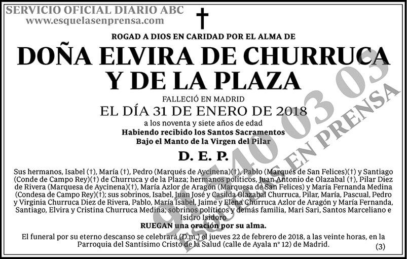 Elvira de Churruca y de la Plaza